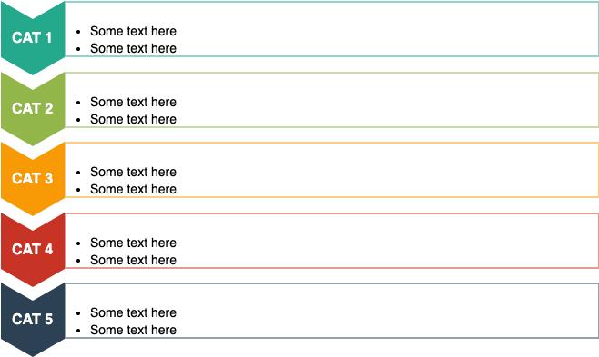 垂直人字形列表