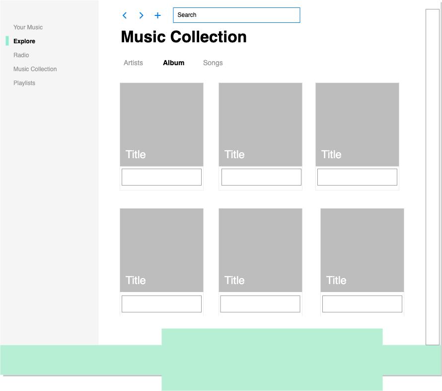 音乐应用程序流畅用户界面