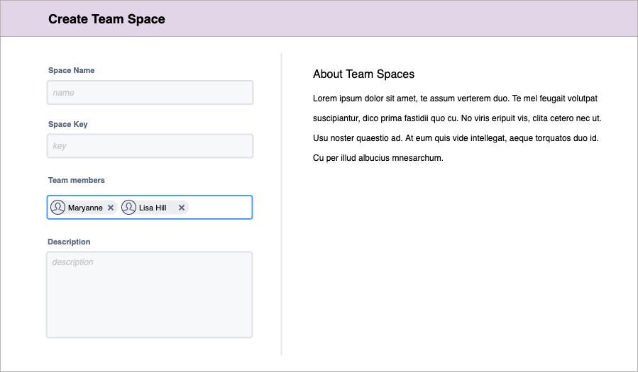 创建团队空间