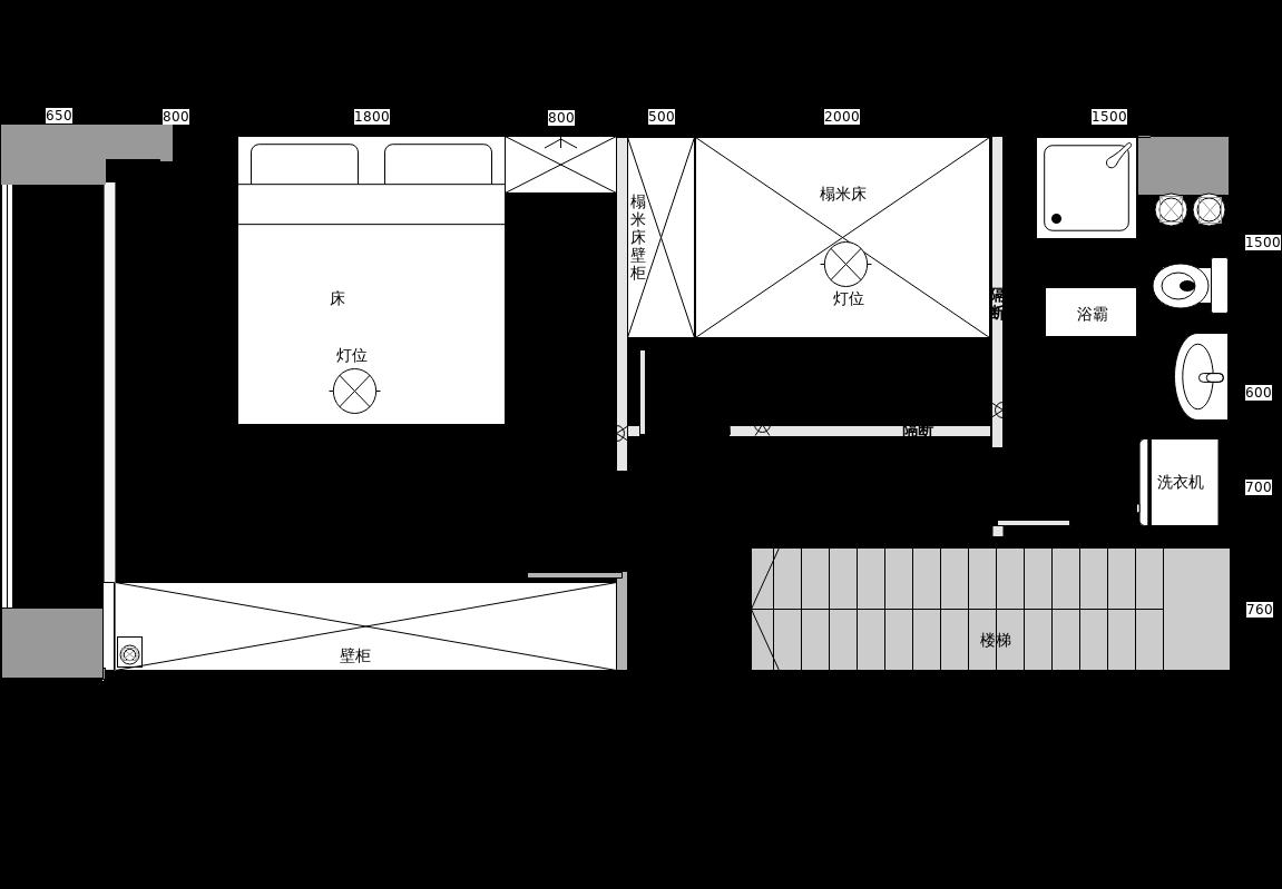 阁楼709设计平面图二楼.xml