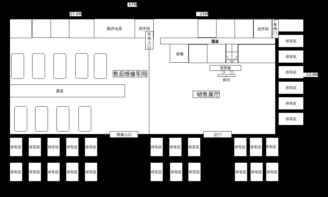 4S店平面图