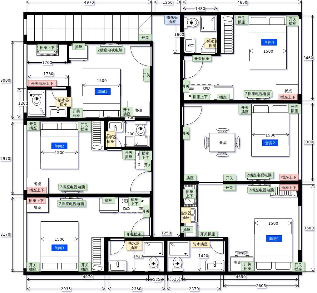 出租房平面设计