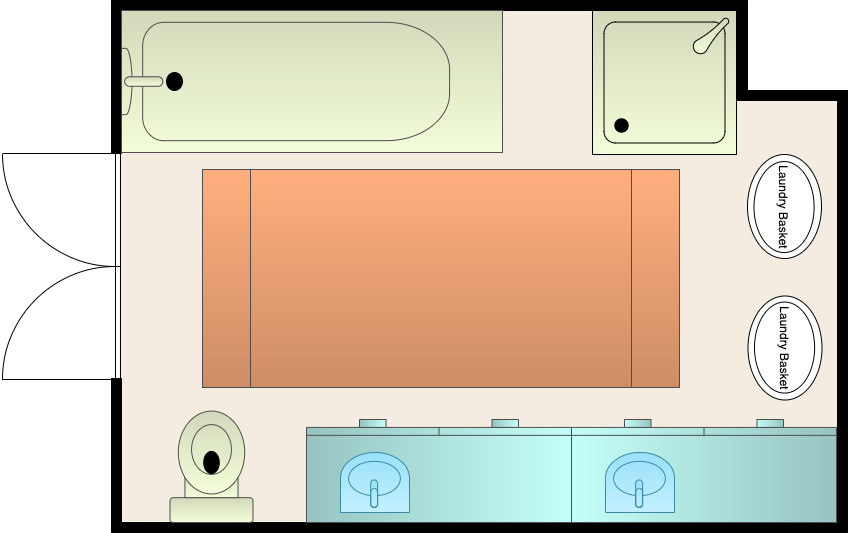 中型浴室布局