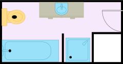 狭小的浴室