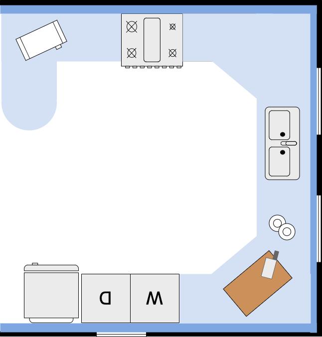 小厨房平面图