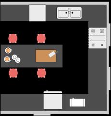 中心岛厨房