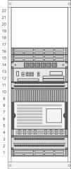 带监视器的机架图示例