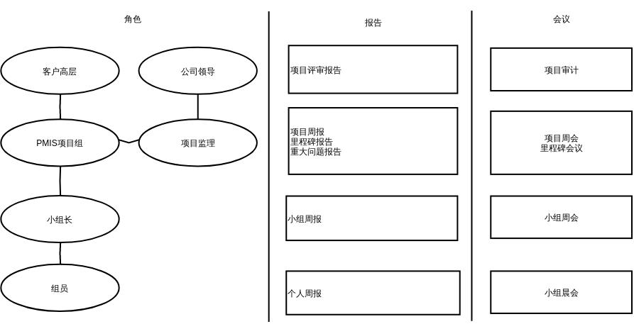 项目的角色和信息