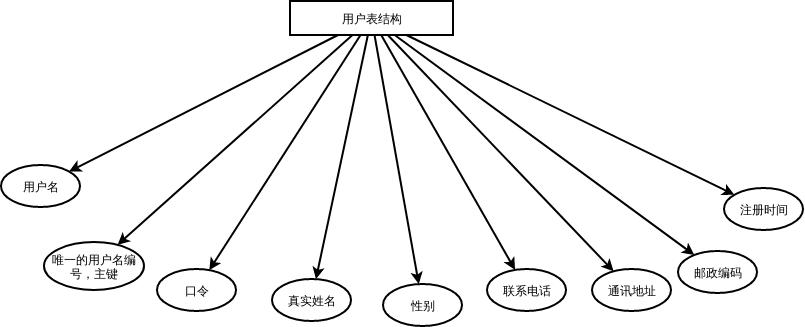 用户表结构